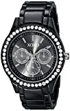 XOXO Women's XO5403  Black Enamel Bracelet With Rhinestones Accent Watch