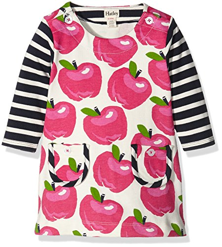 Hatley Nordic Apples Mod Dress-Infant, Vestito Bimbo, Bianco, 6-12 Mesi