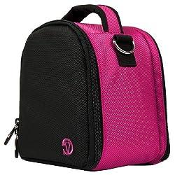VanGoddy Laurel DSLR Camera Carrying Handbag for Nikon D5500 / D810A / D7200 / D750 / D810 / D4s / D3300 / Df / D5300 / D610 / D7100 Digital SLR Cameras (Hot Pink)