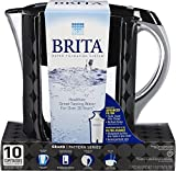 Brita 10 Cup Grand BPA Free Water Pitcher with 1 Filter, Bubbles Black