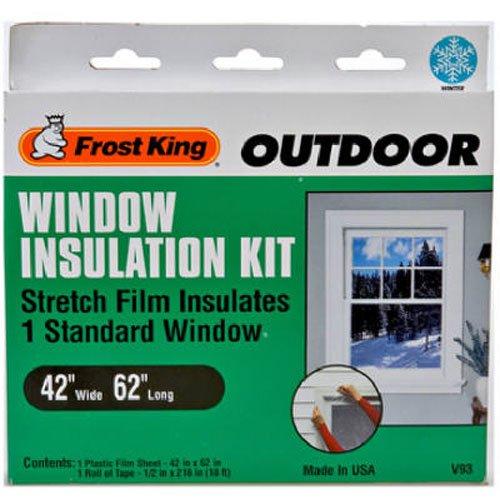 Frost King V93H Stretch Window Kit 42-Inch by 62-Inch (Window Insulation Kit Outdoor compare prices)