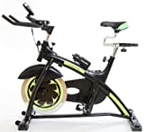 Semi Commercial Fitness Bike Home Workout Gym Master Heavy Duty Exercise Machine in Black, 18kg Flywheel