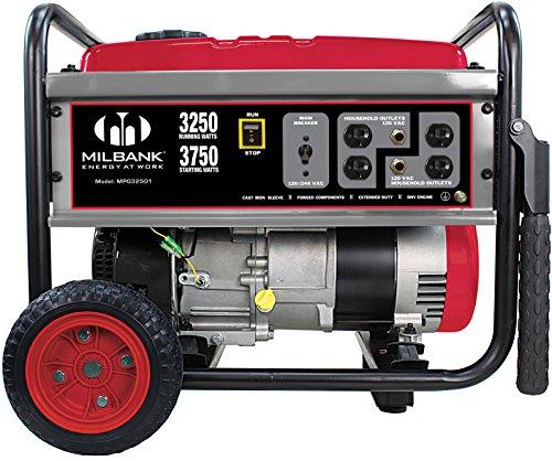 Milbank MPG32501 Portable Generator, 3,250-watt