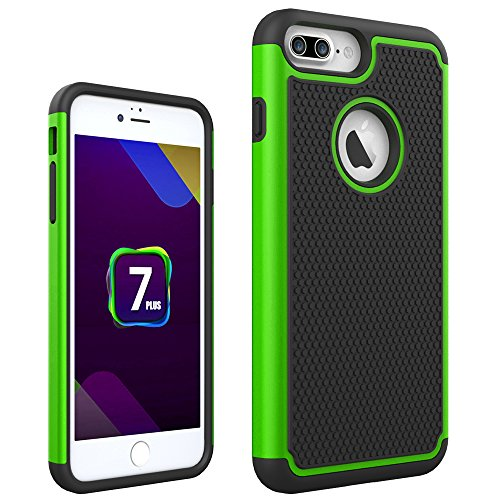 iPhone 7 Plus Case, Asstar Hybrid Dual Layer Defender Protective Shock Absorbing Hearty Grip Rugged Shell Case Cover for Apple iPhone 7 Plus (2016) (Green) (Unit Iphone Case compare prices)