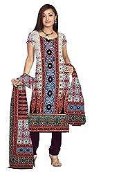 BalajiWomen's Crepe Unstitched dress material(106-multicolor-free size)