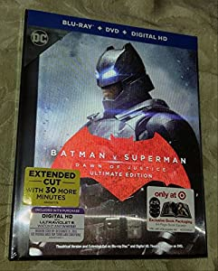 BATMAN V SUPERMAN Dawn Of Justice ULTIMATE EDITION Limited Collection BLU-RAY/DVD/DIGITAL HD Combo Set - EXCLUSIVE Book Packaging 64-Page Book Excerpt