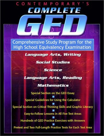 Contemporary's Complete GED: Comprehensive Study Program...