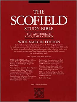 Old scofield study bible kjv wide margin amazoncouk c for Kjv wide margin red letter