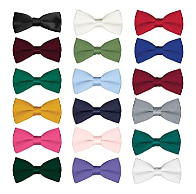 Men's Classic Pre-Tied Formal Tuxedo Bow Tie - Many Colors Available