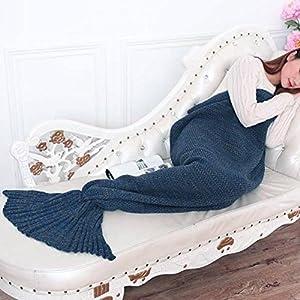 Senmar Warm and Soft All Seasons Mermaid Blanket Sofa Quilt Living room blanket ,Sleeping Bag and Camping Bag (71