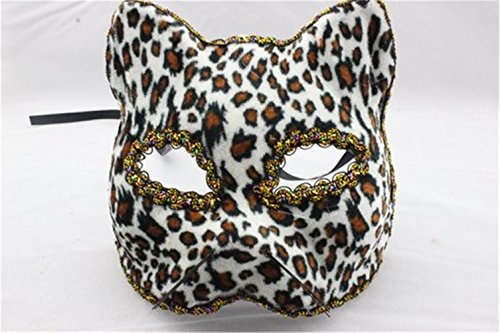 Beautifully Broadway Cat Face Mask Leopard Party Mask By U-beauty