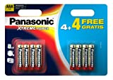 Panasonic Xtreme Power AAA/LR03 Battery 8 Pack 4+4 Free