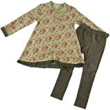 Eliane & Lena Floral Print Tunic with Leggings (size 6)