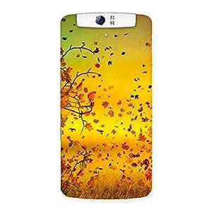 Flying Leaves Back Case Cover for Oppo N1