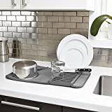 Umbra-1004301-149-Udry-Mini-Tapis-de-Schage-Vaisselle-Polyester-Charbon-3429-x-2032-x-508-cm