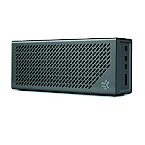 The Crasher by JLab Loud Portable Bluetooth Stereo Speaker with 18 Hour Battery -Midnight Black / Gunmetal