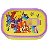 Disney Pooh Lunch Box, 420ml, Yellow/Purple