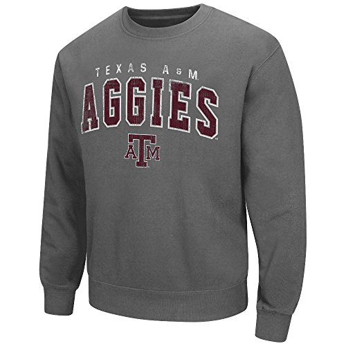 300a9feab1d Colosseum Mens NCAA Texas A M Aggies Crewneck Sweatshirt (Charcoal) – XL