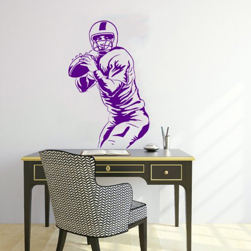 Housewares Wall Vinyl Decal Sport People American Football Player Home Art Decor Kids Nursery Removable Stylish Sticker Mural Unique Design For Any Room front-1055249