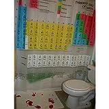 シャワーカーテン 防水&防カビ 元素周期表柄