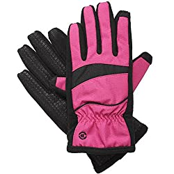 Isotoner SmarTouch Women's Matrix Nylon ThermalFlex Lined Gloves, M/L, Very Berry