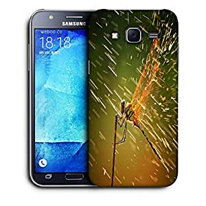 Snoogg Dragonfly Designer Protective Back Case Cover For SAMSUNG GALAXY J7