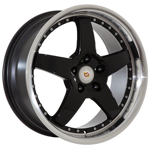 19 Cadillac Wheels Rims Black  Machined Lip (set