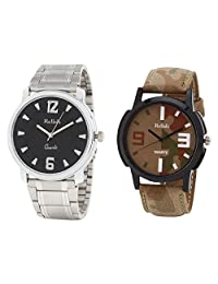 Relish Analog Round Casual Wear Watches For Men Combo - B01ANCDJZ2
