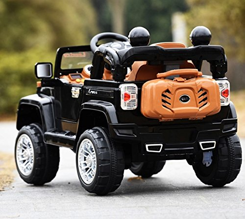 jeep style jj245 black ride on car for kids 2 5 years old with remote control