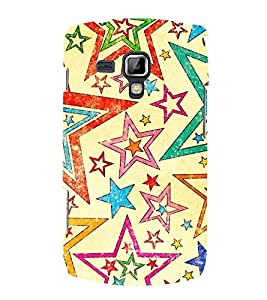 Stars Diamonds Christmas 3D Hard Polycarbonate Designer Back Case Cover for Samsung Galaxy S Duos 2 S7582