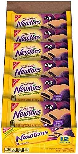 Newtons Fruit Chewy Cookies, Fig, 2 Ounce (Pack of 48)