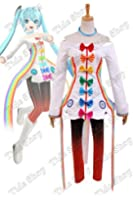 Vocaloid Project DIVA-F 2nd Miku Rainbow Dress Cosplay Costume