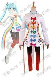 Vocaloid Project DIVA-F 2nd Miku Rainbow Dress Cosplay Costume