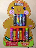 Hershey 10 Flavored Lip Balm Christmas Gingerbread Man Packaging