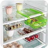 HOME CUBE 1 Pc Refrigerator / Fridge Lock Type Storage Drawer Rack Freezer Shelf Holder Kitchen Organization -...