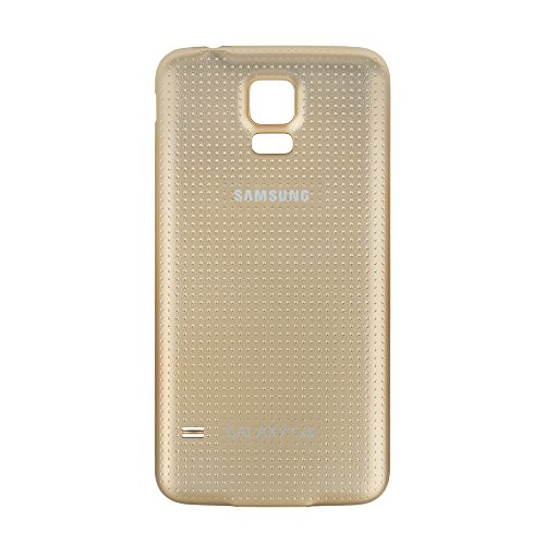 OEM Samsung Galaxy S5 SM-G900 Battery Door Back Cover Replacement - Copper Gold (Samsung Logo) (S5 Back Cover Replacement Gold compare prices)