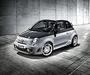 Amazon.com: Fiat Abarth 500C (2012) Car Art Poster Print on 10 mil