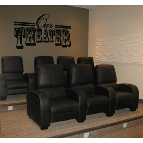 Our Theater Vinyl Wall Decal Decor Sticker Extra Large