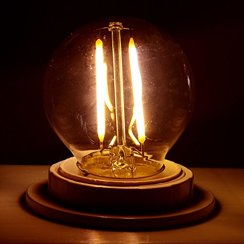 GreenSun-LED-Lighting-LED-Nostalgie-E27-2W-LED-Entspricht-20W-Gluehlampe-G45-Retro-Edison-85-265V-Gluehlampe-Warmweiss-Gluehbirne-Filament-Fadenlampe-Bulb-Lampe-Birne-Leuchtmittel-Dekorative-Beleuchtu