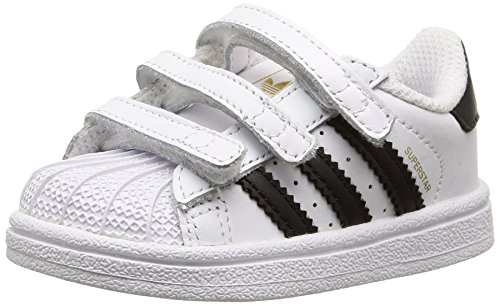 adidas - Superstar Foundation, Sneakers a collo basso infantile, Multicolore (Ftwwht/Cblack/Ftwwht), 20
