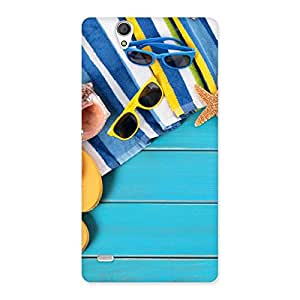 Enticing Cool Beach Print Back Case Cover for Sony Xperia C4