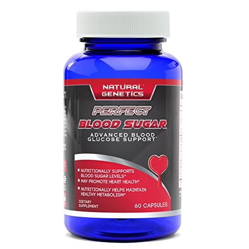 Blood Sugar Control with PERFECT BLOOD SUGAR Supplement, Advanced Natural Formula Assist in Healthy Glucose Levels, Heart Health. Includes Chromium, Alpha Lipoic Acid, Cinnamon and more. 60 Servings