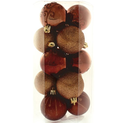 15 Piece Chocolate, Coffee and Champagne Deluxe Christmas Tree Bauble Pack