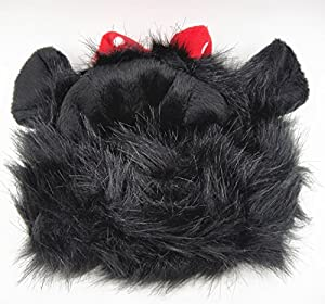 FAMI Pet Wig with Ears for Dogs or Cats, Christmas Costumes Festival Party Clothes Fancy Dress Up, Optional of Three Color (Mickey /Lion Mane /Panda)
