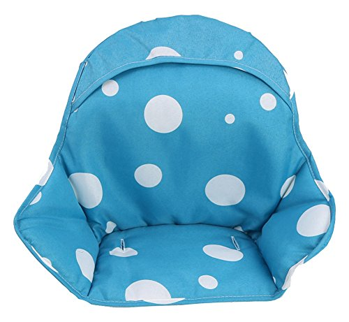 Zicac Kids Baby Dinnertime Highchair Insert Cushion Seat Cushion (Blue)