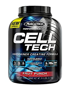 Muscletech Cell Tech Performance Series Powder, Fruit Punch, 5.95 Pounds