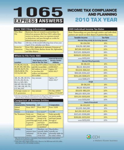 1065 Express Answers: Income Tax Compliance and Planning