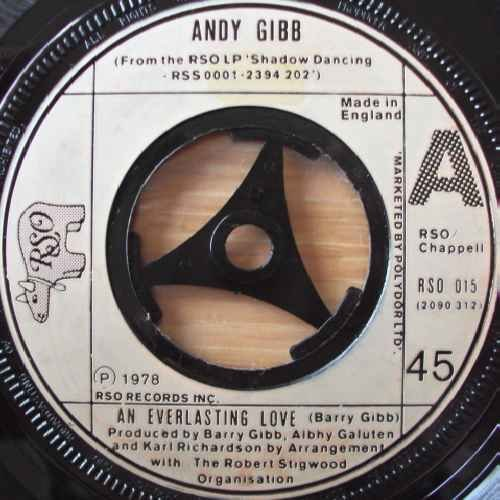 "ANDY GIBB An Everlasting Love UK 7"" 45 by Andy Gibb"