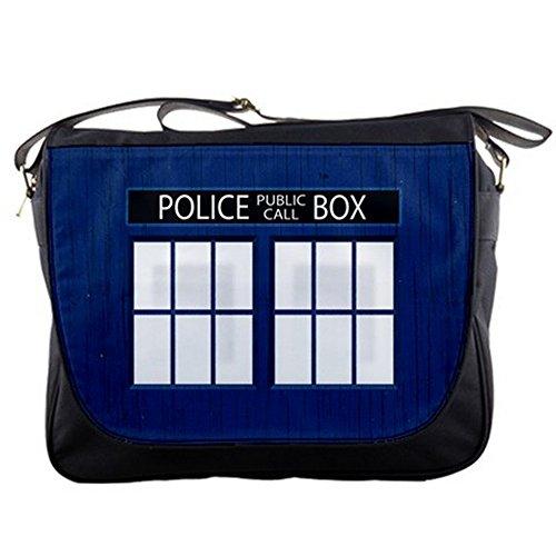 Doctor WHO Tardis Police Call Box Messenger Shoulder Bag College School Bag
