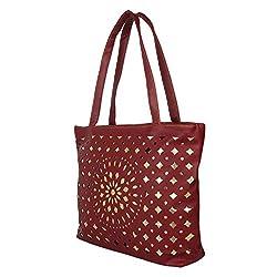 Glory Fashion Women's Stylish Handbag Maroon BB-001-B00164